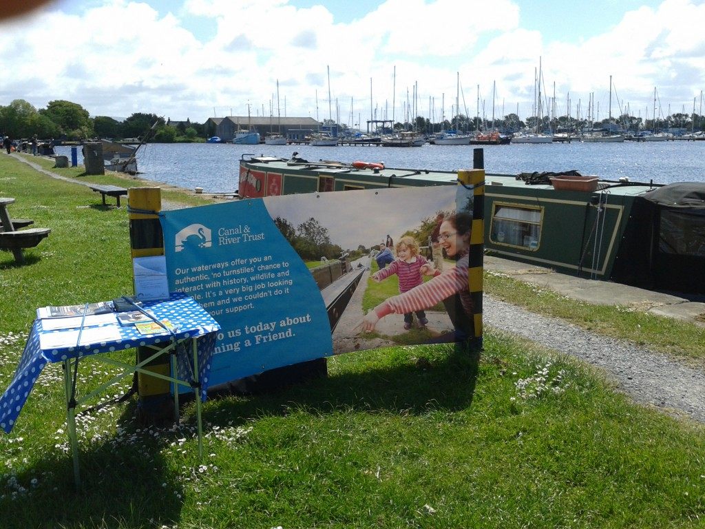 Fundraising site at Glasson Docks